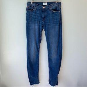 Hudson Raw hem jeans